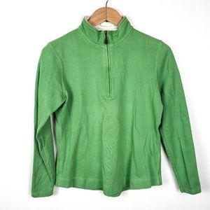 ORVIS Green Pima Cotton Half Zip Pullover Popover